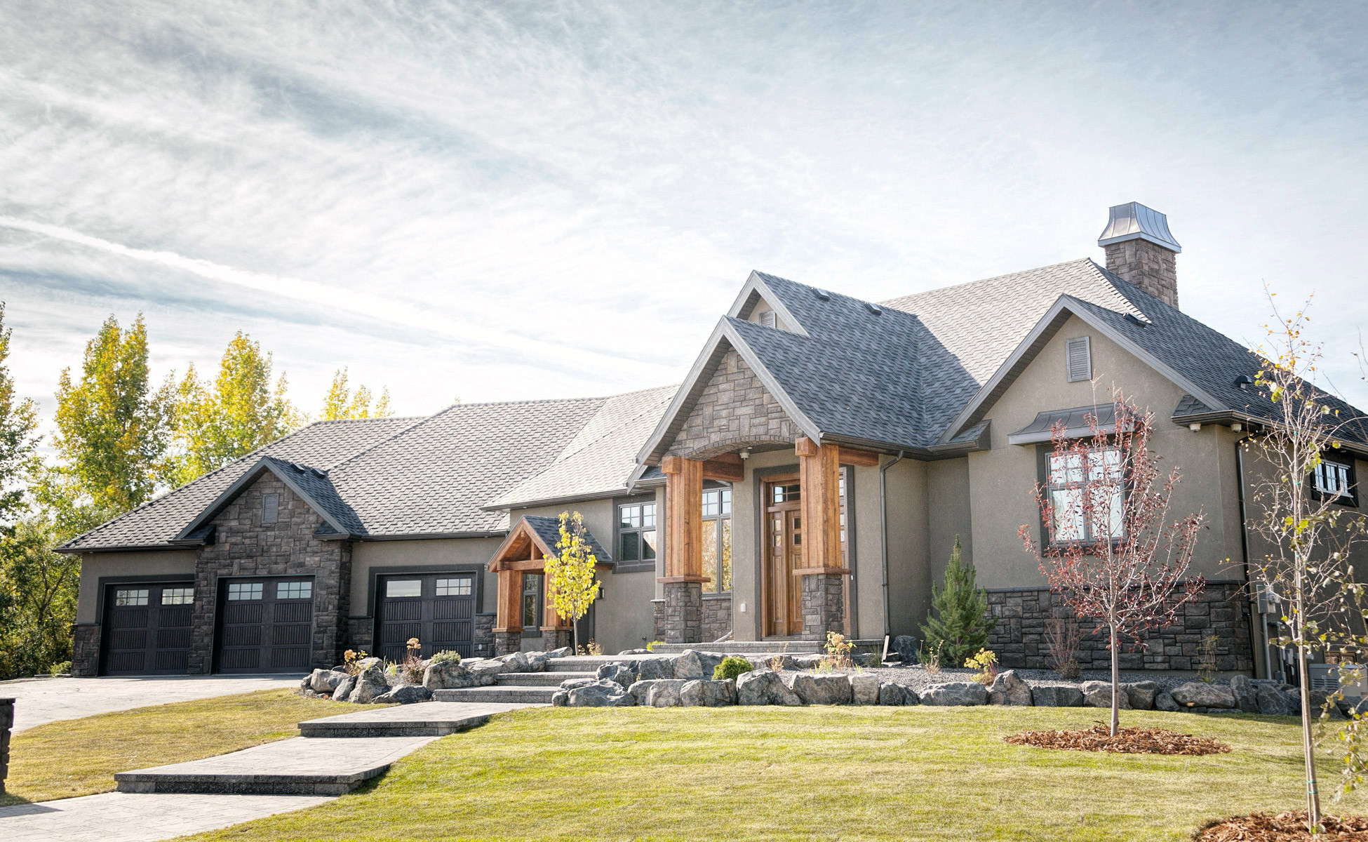 Claresholm country home bezooyen contracting for Custom country homes