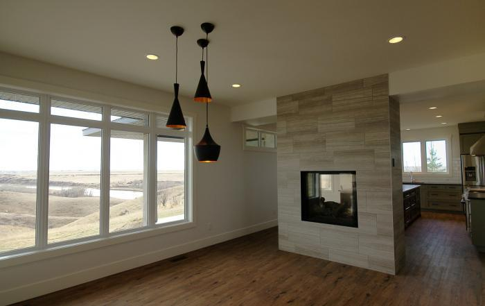 Lethbridge custom home great room view Taber