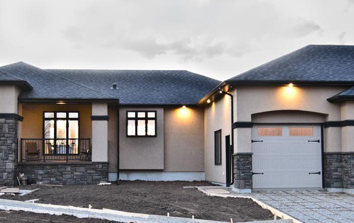 Lethbridge custom home exterior county