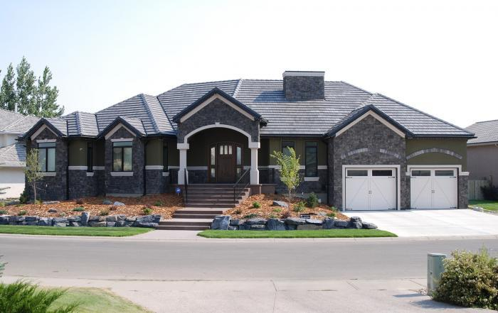 Lethbridge custom home exterior Paradise