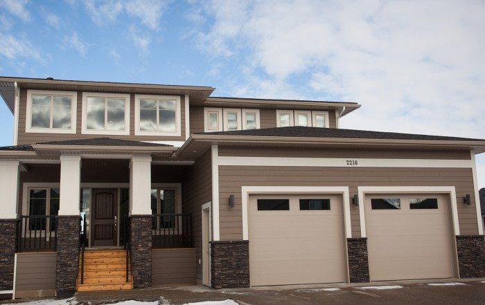 Coaldale custom home exterior