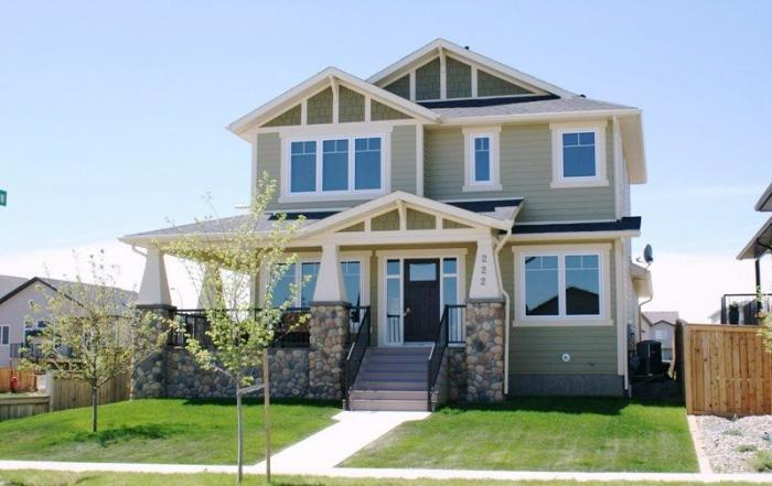 Lethbridge two storey custom home exterior