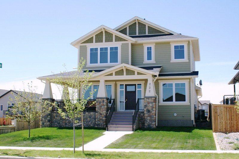 Lethbridge two storey custom home exterior