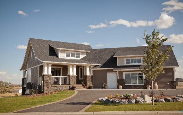 Lethbridge custom home exterior Sandstone